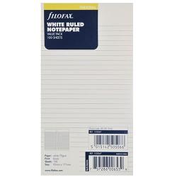 Notizpapier weiss liniert 100 Blatt Filofax Personal_2688