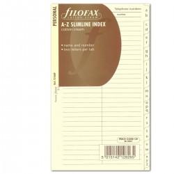 Register A-Z cream Filofax Personal_2691