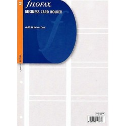 Sichthülle für Visitenkarten Filofax A4_2767