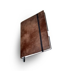 Notizbuch  Whitebook  Large Slim Antik braun_2776