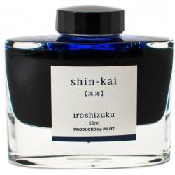 Tintenglas Pilot Iroshizuku Dunkelblau / shin-kai_2847