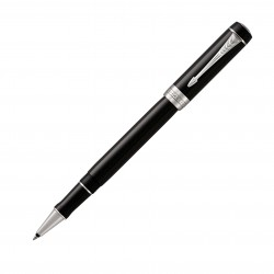 Tintenroller Parker Duofold Classic schwarz versilbert_5385