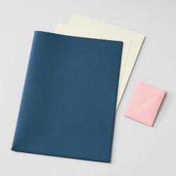 Dokumentenmappe Treuleben Leder Prussian Blue