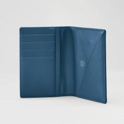 Reisepassetui Treuleben Leder Prussian Blue